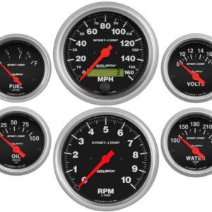 Autometer Sport Comp Electric 6 Gauge Set