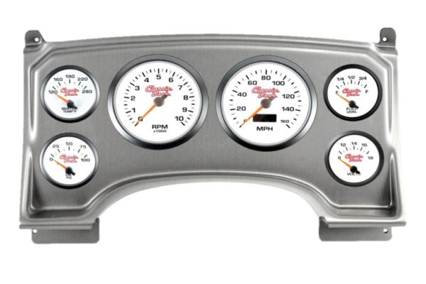 1994-97 Chevy S10 Brushed ALuminum Dash Panel with Concourse Series White Gauges