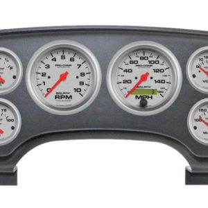 1994-97 Chevy S10 Truck Black Dash Panel with Ultra-Lite Electric Gauges