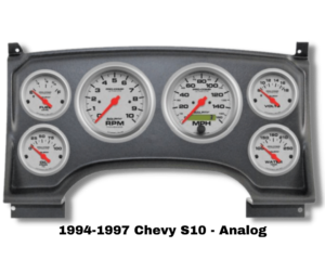 94-97 Chevy S10 Replacement Dash for Analog Gauges