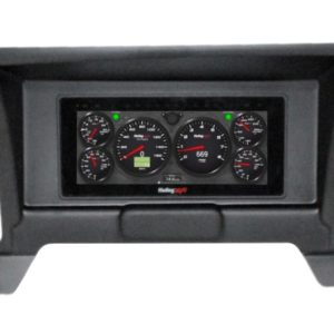 """1986-93 Chevy S10 Truck Black Dash Panel with HOLLEY 6.86"""" StandAlone Digital Dash Bundle"""